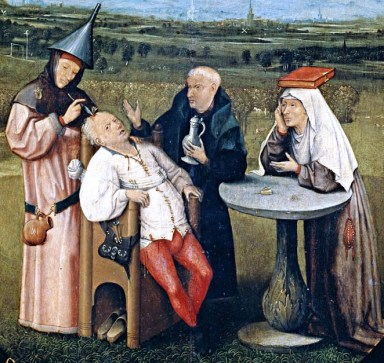 You know things aren't going well with your headache when trepanning sounds reasonable. Image, Hieronymus Bosch