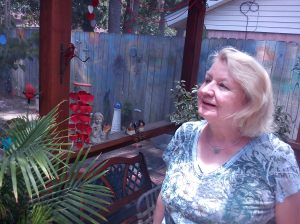 Mom in the sunroom